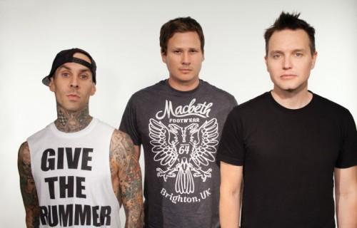 La vechia formazione dei Blink 182, con Tom Delonge alla chitarra. Foto: Stampa