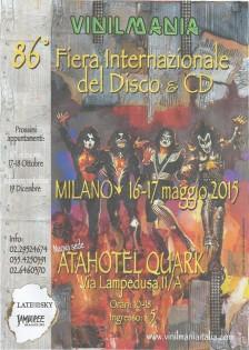 L'86° edizione di Vinilmania si terrà il 16-17 maggio 2015 presso Atahotel Quark - Via Lampedusa 11/a Milano