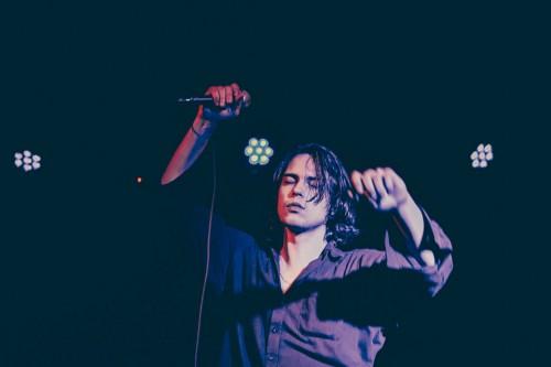 Iceage, live, concerto, foto, gallery, Monk, Roma, giugno 2015, Kimberley Ross, punk rock, Elias Bender Rønnenfelt, Johan Surrballe Wieth, Jakob Tvilling Pless, Dan Kjær Nielsen