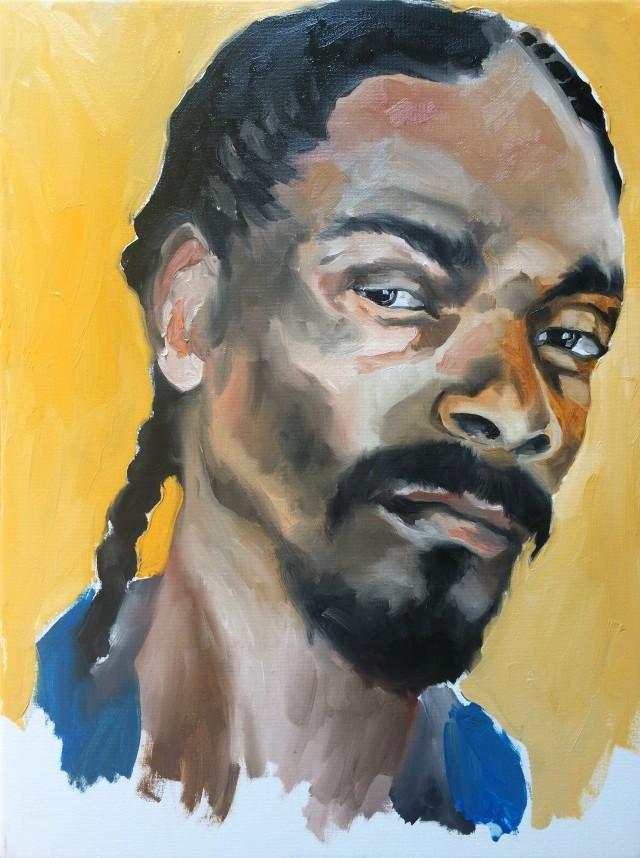 L'artista e tatuatore Massimo Gurnari ha dipinto per noi uno Snoop Dogg in versione olio su tela. Tanta roba
