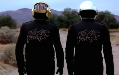 "Un frame dal documentario ""Daft Punk Unchained"""