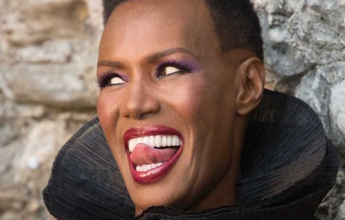 "La foto di copertina del libro di Grace Jones ""I'll Never Write My Memoirs"""