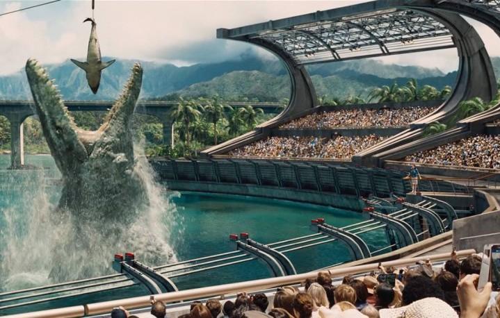 """Un fotogramma dall'ultimo """"Jurassic World"""". Foto: Facebook"""