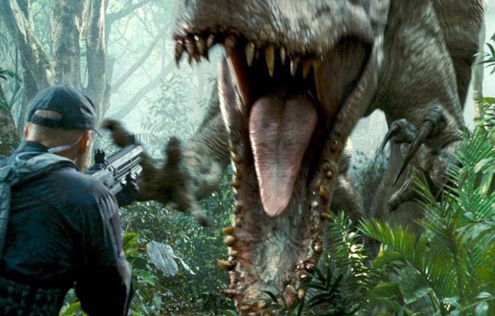 "Un frame di ""Jurassic World"""
