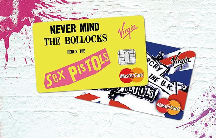 """""""Never Mind The Bollocks"""" e il singolo """"Anarchy In The U.K."""" sono i nuovi fiori allocchiello della Virgin Money. Foto: Virgin Money"""