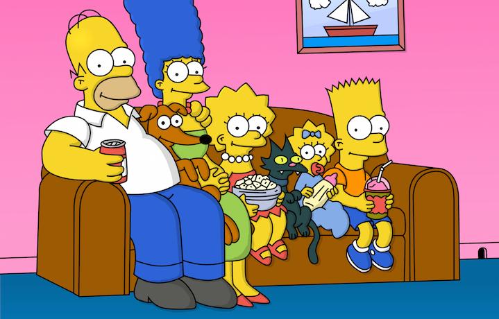 I Simpson sul divano di casa