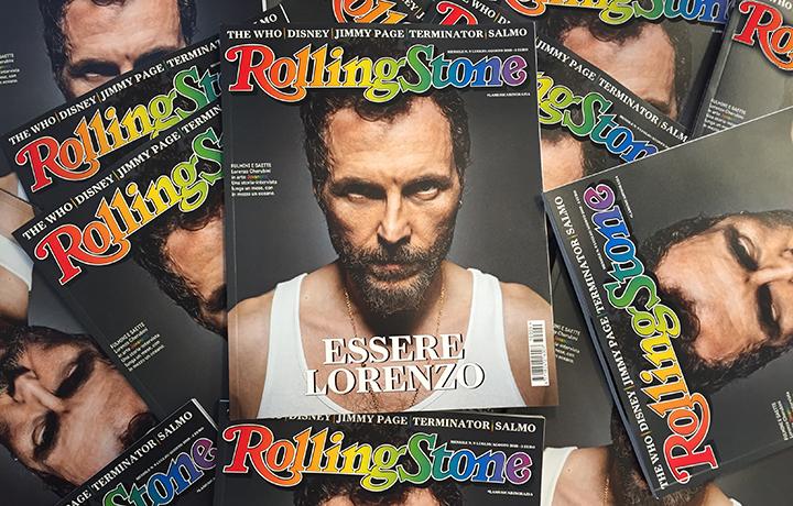 Lorenzo Cherubini a.k.a. Jovanotti sulla copertina del numero di luglio di Rolling Stone