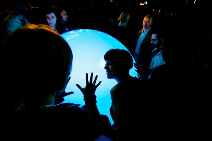 Un momento del Torino Jazz festival del maggio scorso con le Toyota Sensitive Spheres