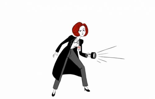 """Un frame del nuovo teaser animato di """"x Files"""""""