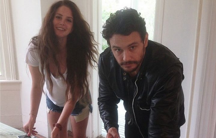 James Franco e Lana Del Rey, foto via Instagram
