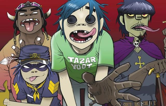 2D, Murdoc, Noodle e Russell. Cioè la nostra band virtuale preferita. Fonte: Facebook
