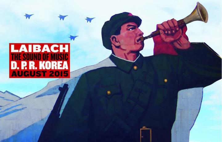 Il cartellone delle date dei Laibach in Corea del Nord. Fonte: Facebook