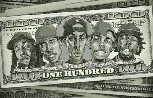 "Travis Barker con Kid Ink, Ty Dolla $ign, Iamsu!, & Tyga nel nuovo singolo ""100"""