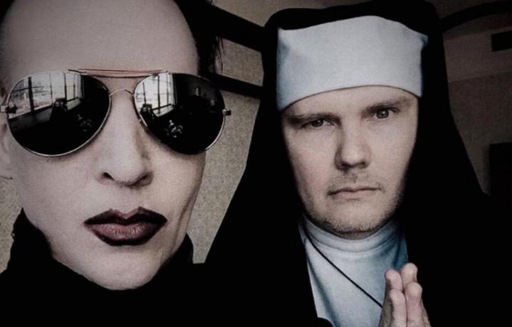 Billy Corgan (vestito da suora) e Marilyn Manson cantano 'Girls Just Wanna Have Fun'