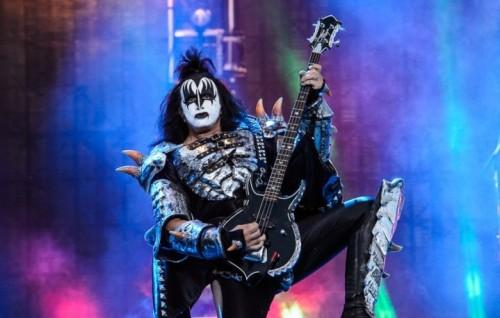 Gene Simmons sul palco dell Arena di Verona