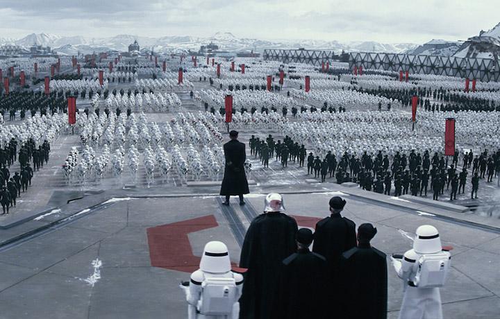 """Una scena dal nuovo film """"Star Wars: Il Risveglio della Forza"""""""