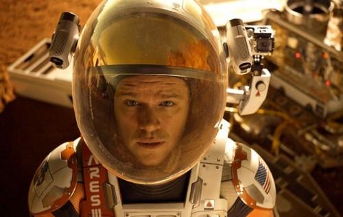 Matt Damon nei panni di Mark Watney, un astronauta in missione su Marte