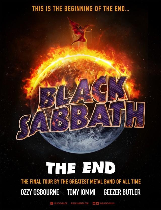 La locandina del nuovo tour dei Black Sabbath