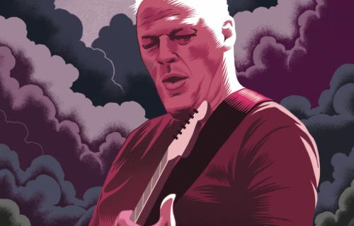 David Gilmour, 69 anni - Illustrazione di Massimilano Aurelio