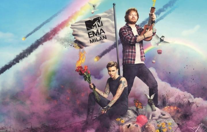 Ed Sheeran e Ruby Rose, i conduttori degli MTV EMA 2015