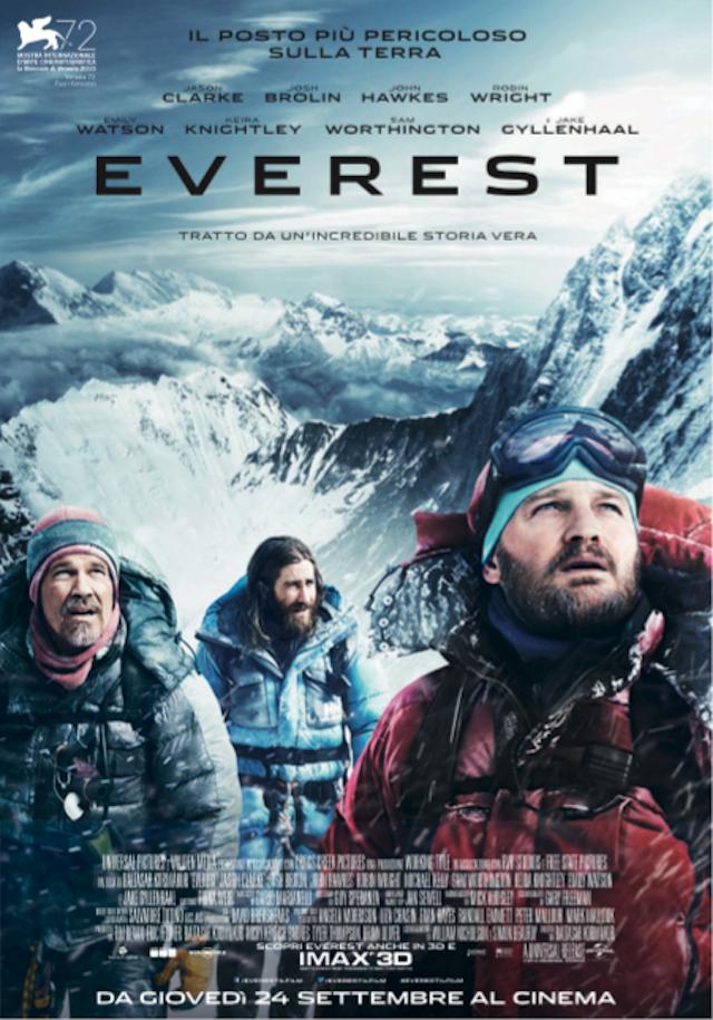 La locandina di Everest al cinema dal 24 settembre 2015