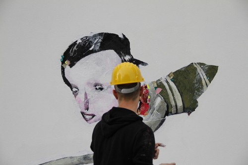 REDValentino, pop up store, Milano, street art, street artist, ZAP, collezione, moda, stile, foto, gallery, art work, tessuto, Valentino