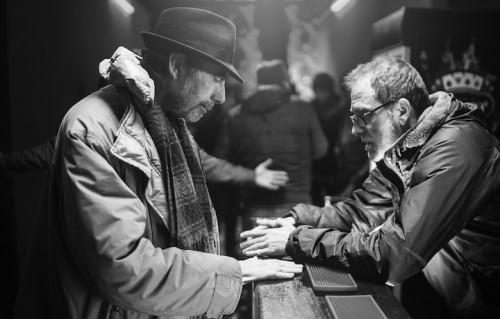 """Claudio Caligari e Valerio Mastandrea sul set di """"Non essere cattivo"""". Foto: Matteo Graia"""