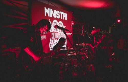 I Ministri durante il secret show a Milano il 17 settembre scorso - Jackfoto