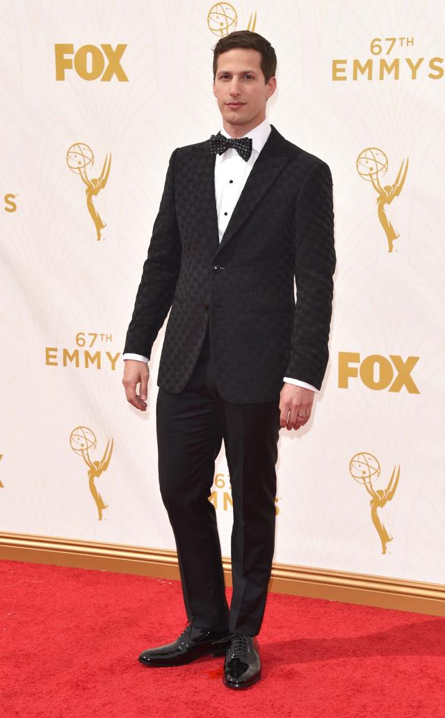 Andy Samberg durante la 67estima cerimonia di consegna degli Emmy Awards al Microsoft Theater