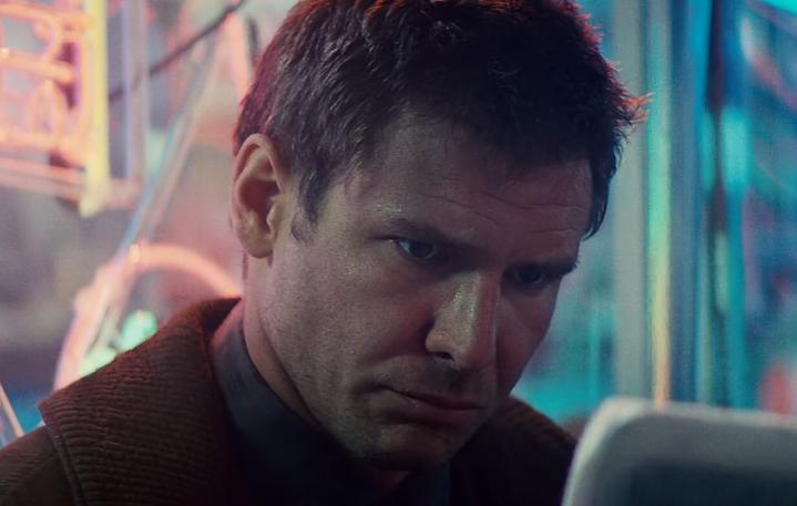 "Harrison Ford in una scena di ""Blade Runner"", 1982"