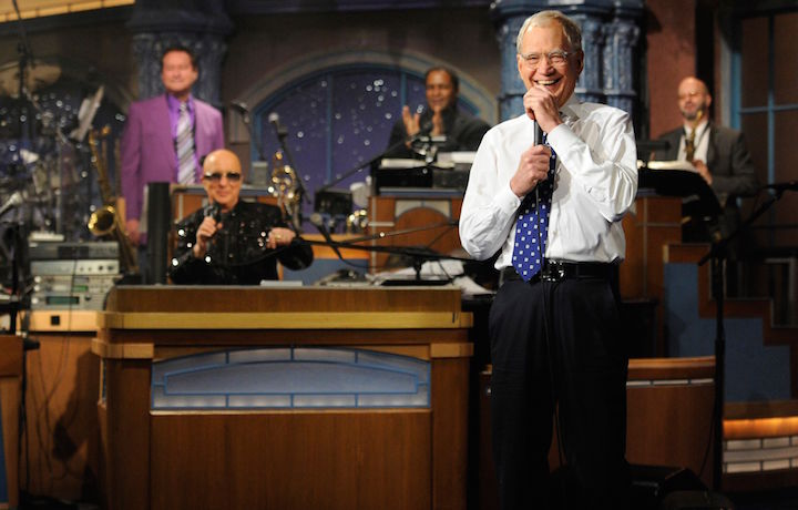 """David Letterman durante l'ultima puntata del suo """"Late Show"""". Fonte: Facebook"""
