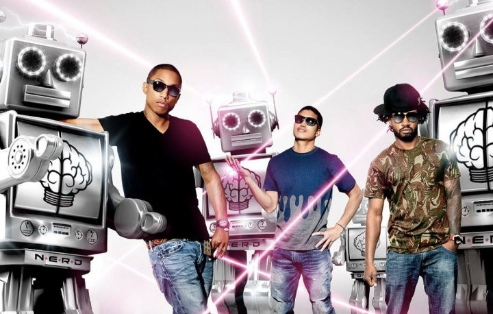 I N.E.R.D. sono Pharrell Williams, Chad Hugo dei The Neptunes e Shae Haley. Foto: Facebook