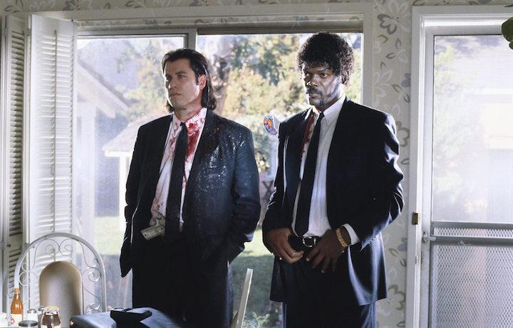 John Travolta e Samuel L. Jackson sul set del film. Fonte: Facebook