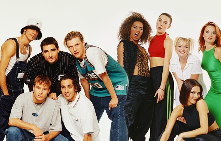 I Backstreet Boys e le Spice Girls al massimo del loro splendore anni '90