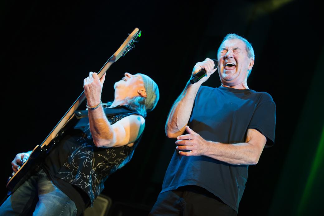 La formazione dei Deep Purple attualmente in concerto. Foto: Giuseppe Craca