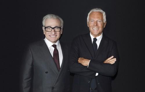 Martin Scorsese e Giorgio Armani