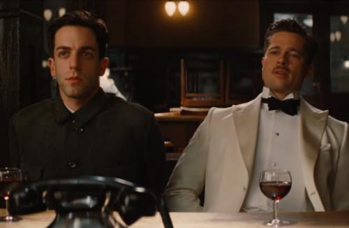 """B.J. Novak con Brad Pitt in """"Bastardi senza gloria"""""""
