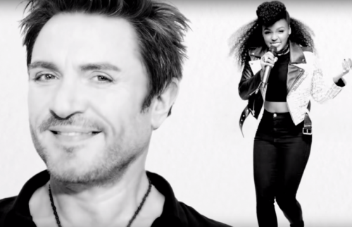 Simon Le Bon e Janelle Monae in un fotogramma del video