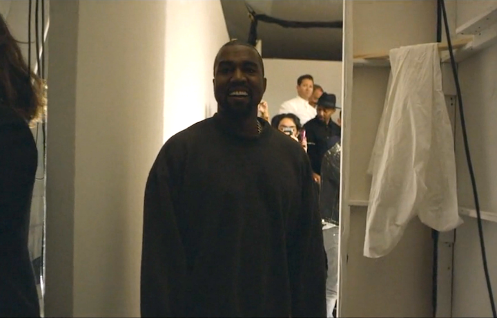 Un frame del documentario di Kanye