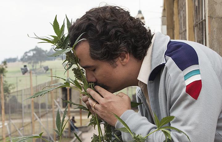 """Un'immagine di Pablo Escobar da """"Narcos"""""""