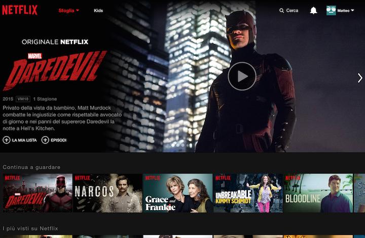 Netflix è arrivato in Italia