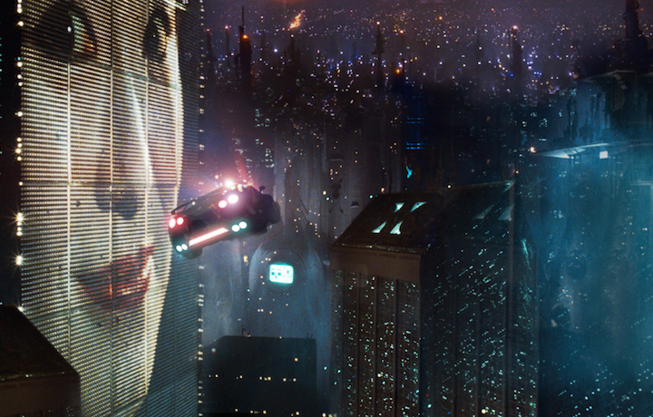 Una scena del primo Blade Runner, 1982