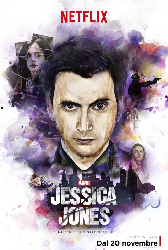 """Kilgrave nella locandina di lancio di """"Jessica Jones"""", in uscita il 20 novembre in Italia"""