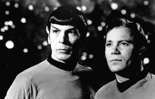 Leonard Nimoy e William Shatner in Star Trek, nel 1968