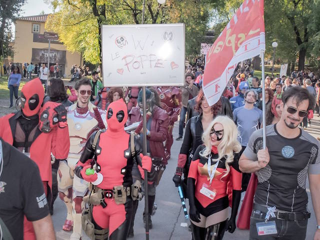 Cosplayer di Deadpool. Fonte: Facebook
