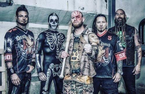 Five Finger Death Punch, foto di Kenneth Sporsheim, fonte Facebook
