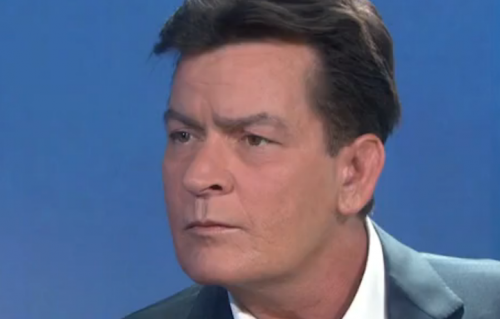 "Charlie Sheen durante l'intervista video a ""Today"""