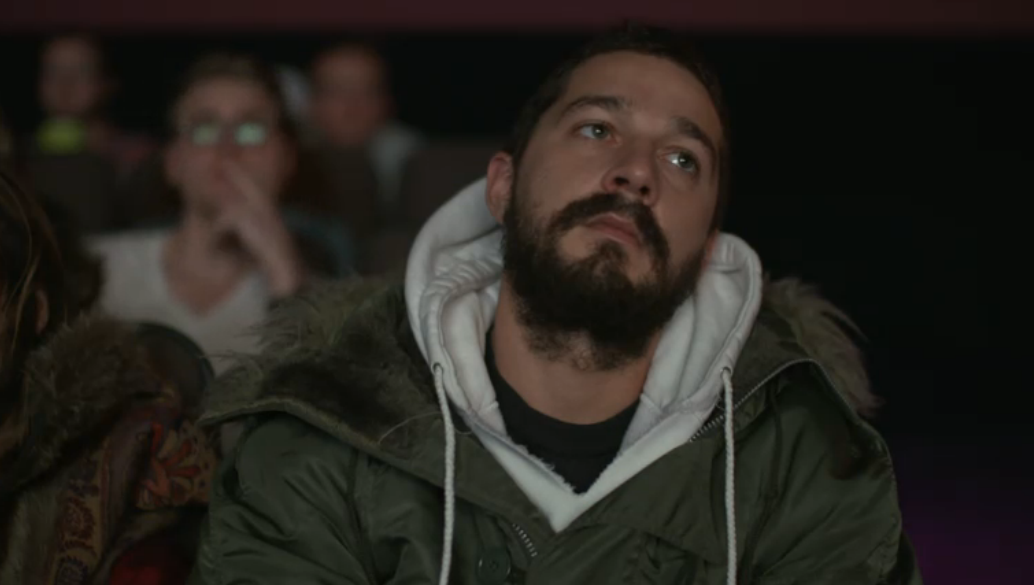 Shia LaBeouf in diretta streaming durante #ALLMYMOVIES