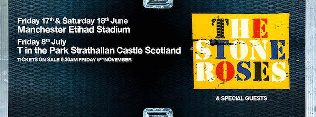 Annuncio concerto Stone Roses