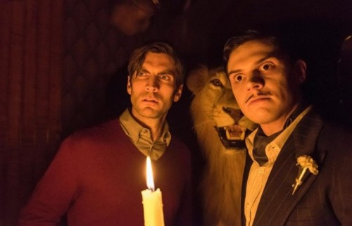 "Wes Bentley ed Evan Peters in ""American Horror Story: Hotel"" - Foto via Facebook"